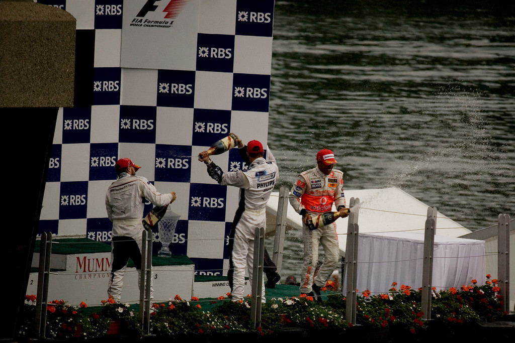 Lewis Hamilton's first F1 win.