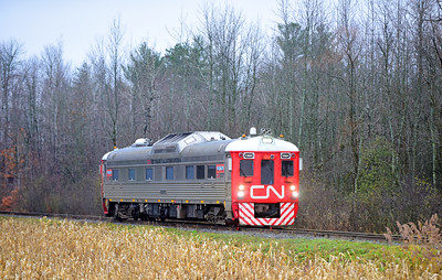 Canadian National Tec Train, Lacolle, Quebec, November  13 2018.