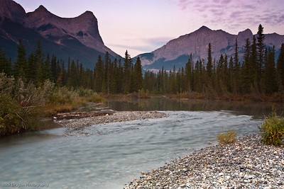 Mount Lawrence Grassi and Mount Rundle, Kanaskis Country, Alberta