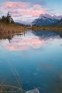 Mount Rundle from Vermillion Lakes in Banff National Park