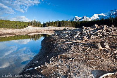 Lower Kananaskis Lake in Peter Lougheed Provincial Park.