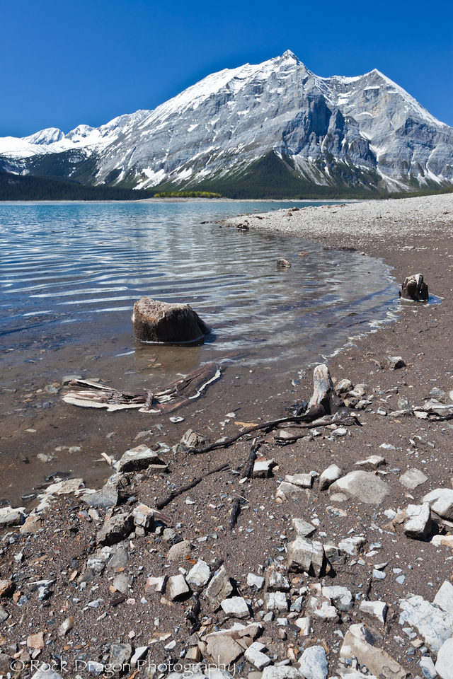 Upper Kananaskis Lake in Peter Lougheed Provincial Park.