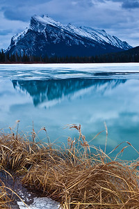 Mt. Rundle at Vermillion Lakes, Banff National Park