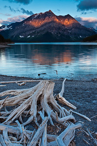 Mount Lyautey from Upper Kananaskis Lake in Peter Lougheed Provincial Park.