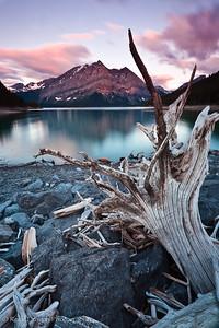 Mount Lyautey from Upper Kananaskis Lake in Peter Lougheed Provincial Park.