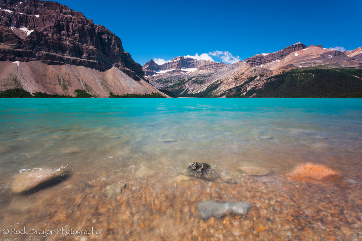 Bow Lake in Banff National park.