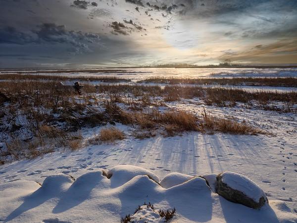 Sunset over Lake Winnipeg