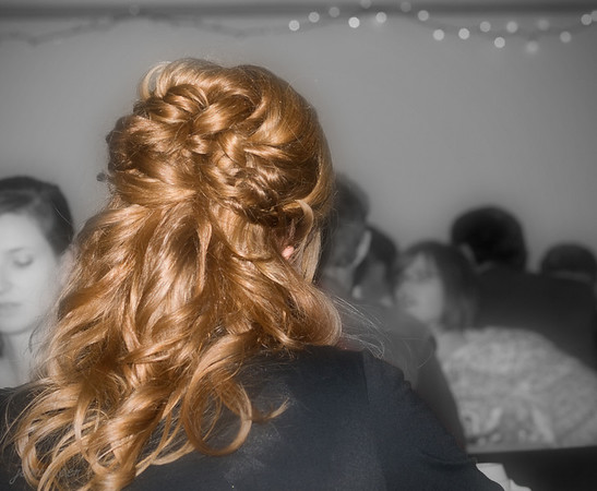 So many redheads in our family, and each and every one has their own special shade of red. Your hair looked particularly gorgeous for the wedding Allison, Mackenzie just can't wait to have hers done up like this!