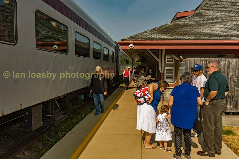 Platform activity prior to departure