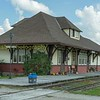 The former Alliston Canadian pacific station now the home of my great friend and host for the trip JIm Brown,  The story of how JB acquired the station and then moved it to its present location at Tottenham is worthy of a book in its own right