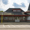 Orangevill Canadanian Pacific station building, now serves as a signing on point, washrooms and tourist station for Cando's operation