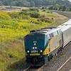 Via rail train  61 the  mon - sat 0635 Montreal - Toronto with GE P42 DC ( Genesis)  902 near pentecostal rd  on the CN Kingston sub east of Toronto.  Friday 15-09-17