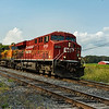 Canadian Pacific Gevo powered ES 44  8723  with BNSF 7031 powers an Chicargo- Montreal intermodel eastbound  at Spicer siding (loop) on friday 15-09-17.