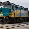 Via Rail F40PH  #6425 heading a Toronto bound express up the Dundass sub in Woodstock