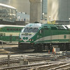 MP40 #600 propels out of Union station