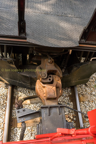 The coupling between the loco and cabouse