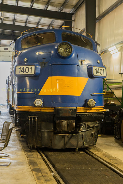 One of the companies iconic FP9Au units , an  ex VIA & CN owned loco built in March 1957 #1401