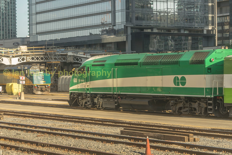 The Doyden of the class MP40 #600 departs westbound