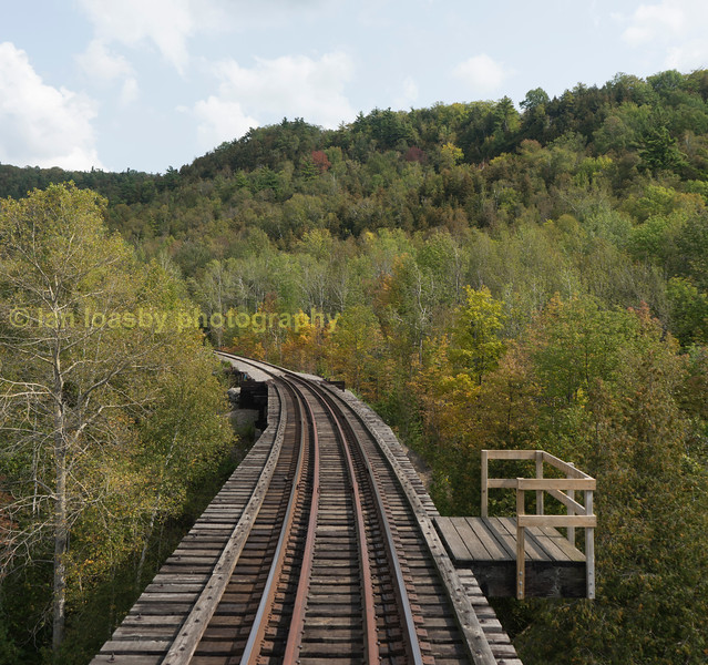 The highlight of the trip, the trestle bridge and autumn colours
