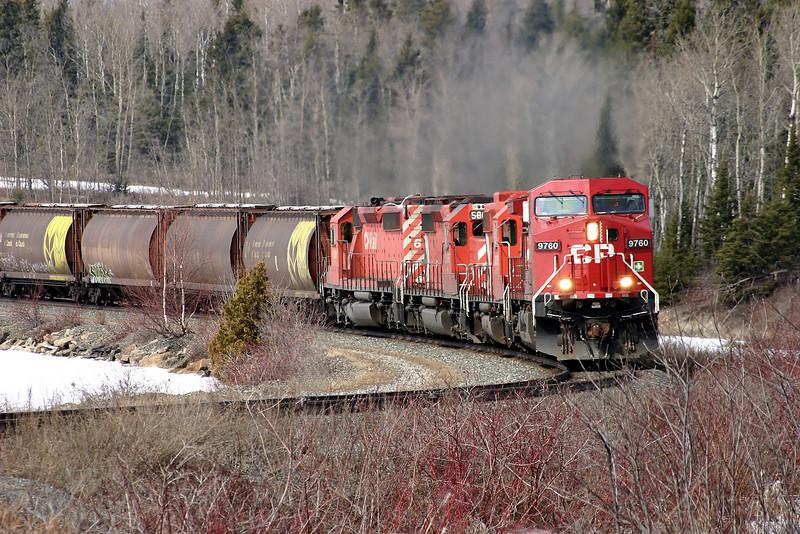 CP 9760 East at Wabigoon, Ontario.