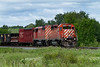 CP 5912 with CP 9011 heading east through Barclay Ontario.