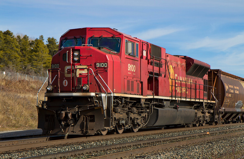 CP 9100 West sitting on the siding at Hawk Lake Ontario. I have no idea how long this train sat here but when I got here there wasn't any crew on it.