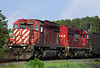 CP SD-40-2's 6052, and 5942 at Barclay, Ontario