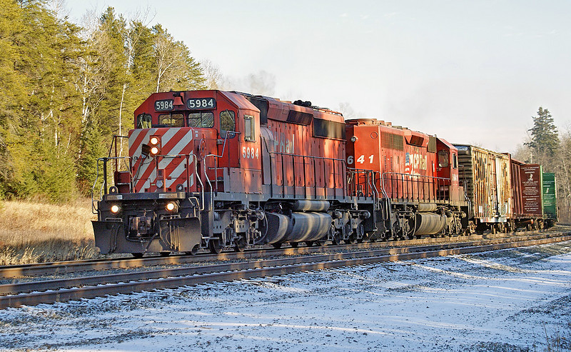 CP 5984 and CP 5641 at Bonny Bay Rd, NW Ontario.
