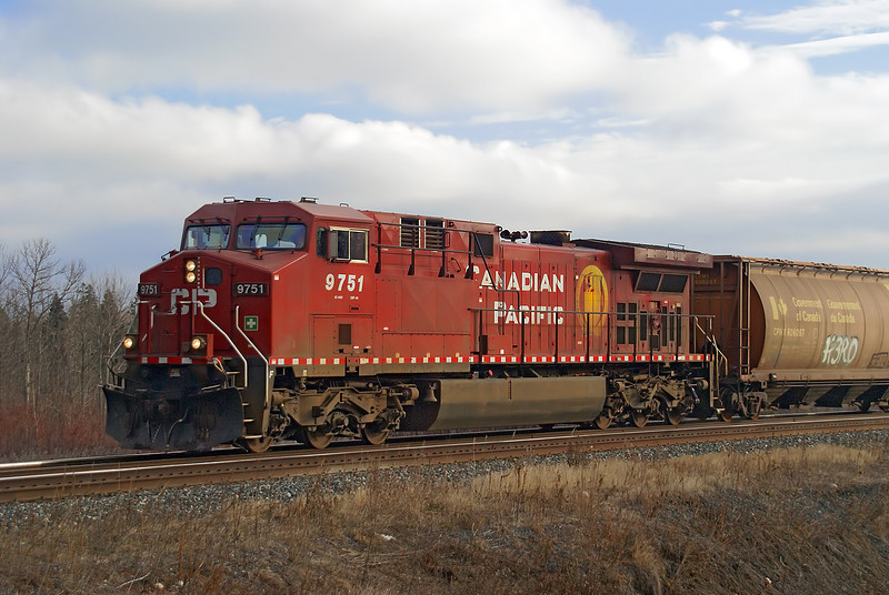 CP 9751, a AC4400, west bound at Barclay, Ontario