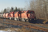 CP 5984, 6007, and 6602 (ex SOO 6002) at MP 45, Ignace sub.