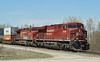 CP 8739, a  GE ES44AC and  CP 8515, a AC4400CW heads east towards Eagle River, Ontario.