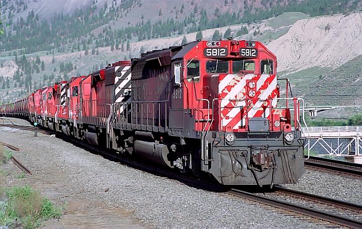 CP 5812 East at Spences Bridge, British Columbia.