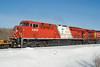 CP 8865, a GE ES44AC trails CP 8567, a GE AC4400CW at Barclay, Ontario.