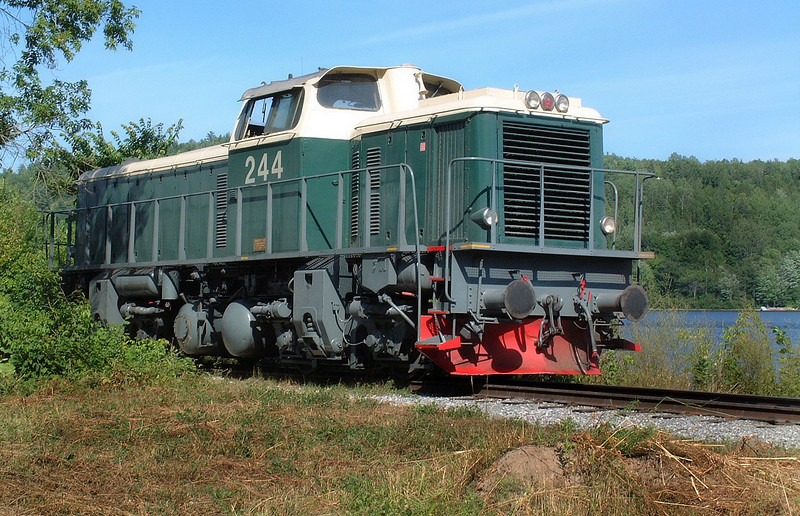 A Swedish Diesel locomotive used between Hull, and Chelsea Quebec along with a Swedish steam engine for steam train rides.