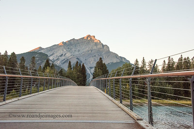 Banff Walkway Bridge, Banff, Alberta, Canada