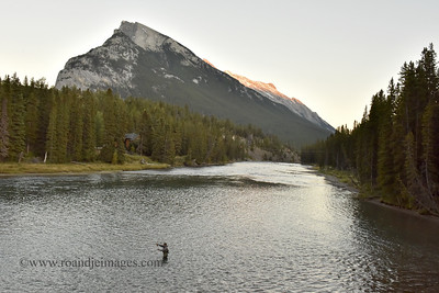 Bow River Fisherman, Banff, Alberta, Canada