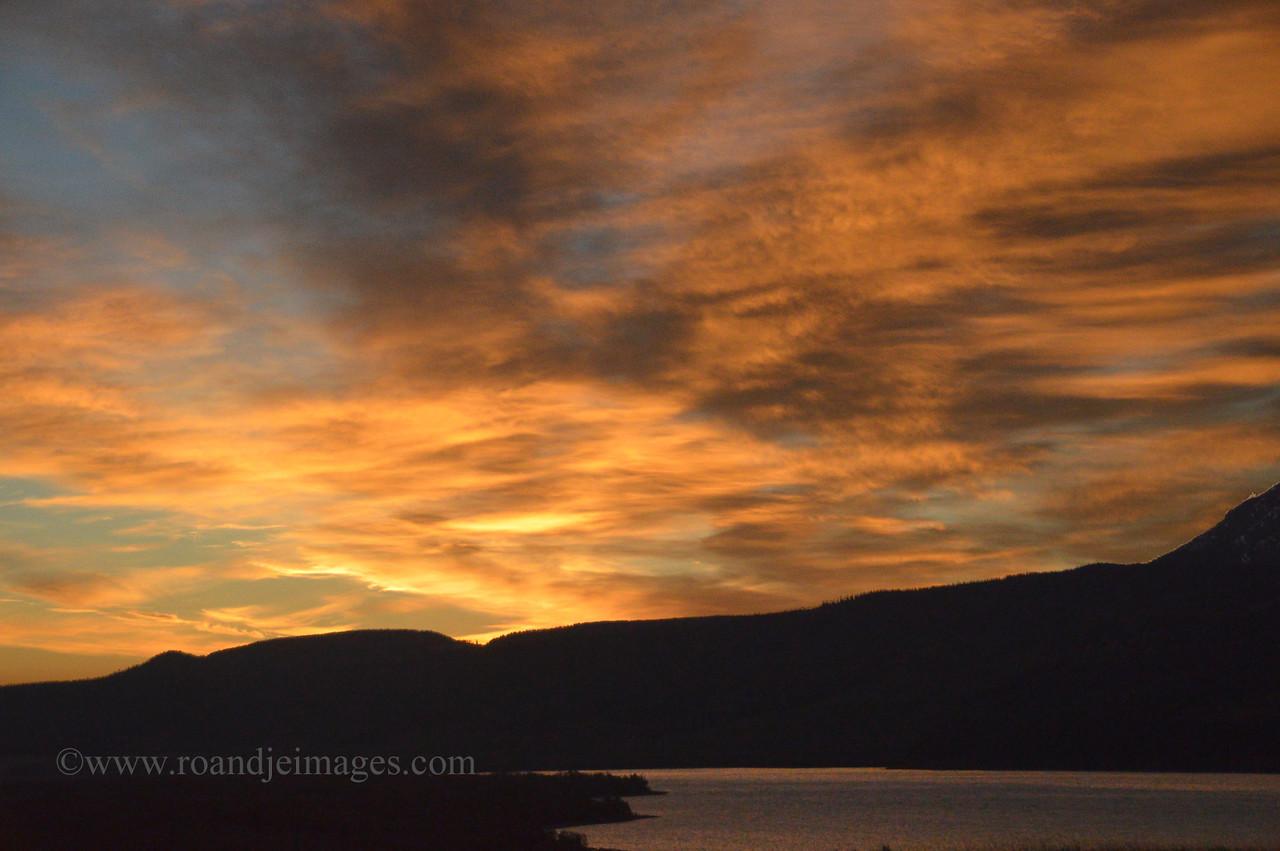 Sunrise at Waterton Lake, Alberta, Canada