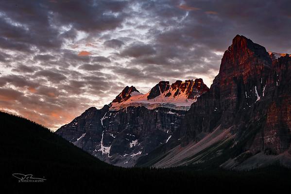 Sunrise - Mt Quadra (left), Mt Babel (right)