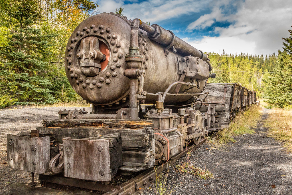 Coal Train at Bankhead, Banff National Park, Alberta, Canada