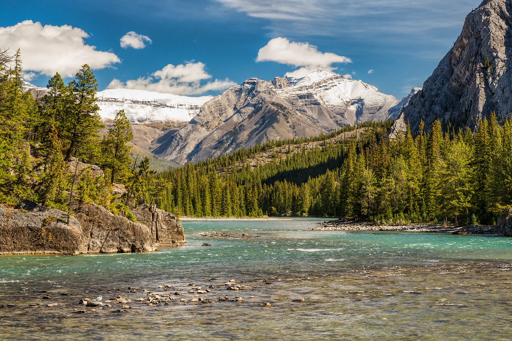 Bow River below Bow Falls, Banff, Alberta, Canada