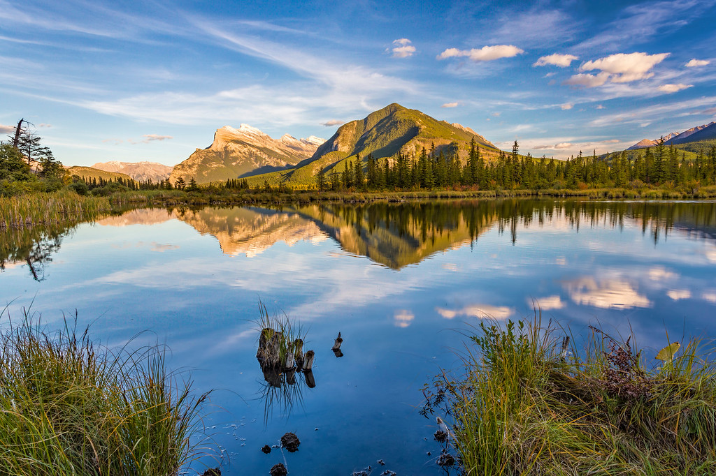 Sunset at Third Vermillion Lake, Banff, Alberta, Canada