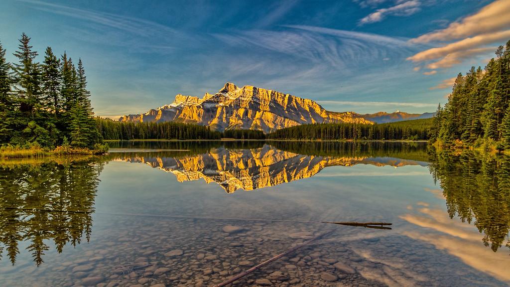 Morning at Two Jacks Lake 9 X 16