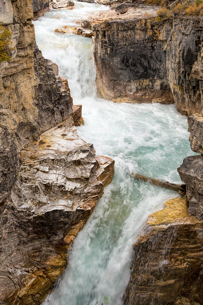 Falls at Marble Canyon 2, Kootenay National Park, British Columbia, Canada