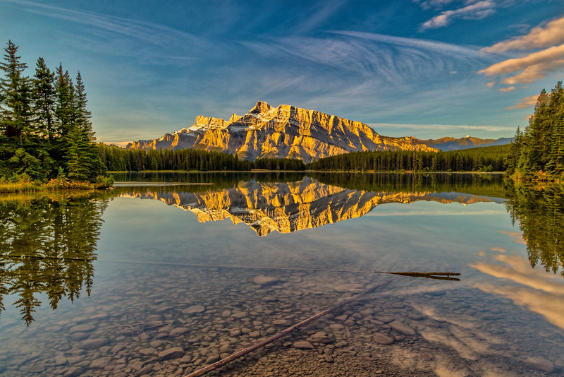 Morning at Two Jacks Lake, Alberta, Canada