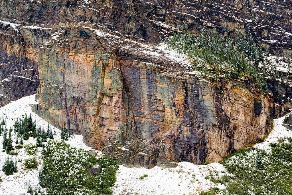 Exposed Rock at Lake Louise, Banff National Park, Alberta, Canada
