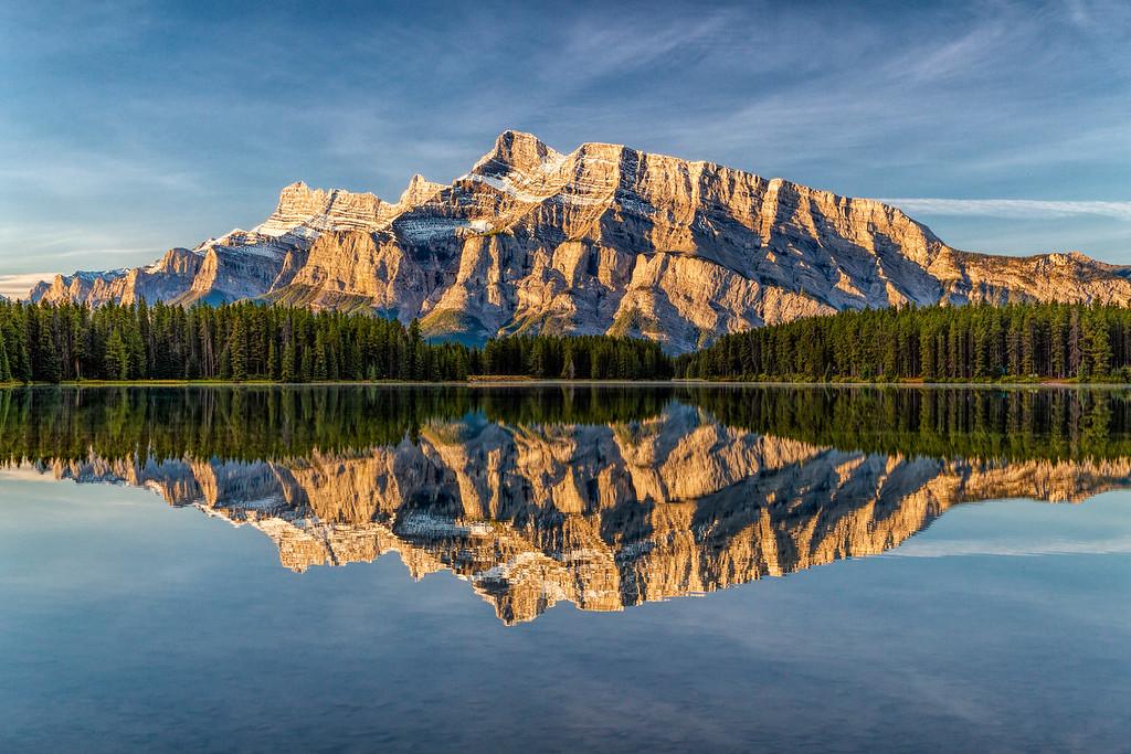 Mt. Rundle at Two Jacks Lake, Banff, Canada
