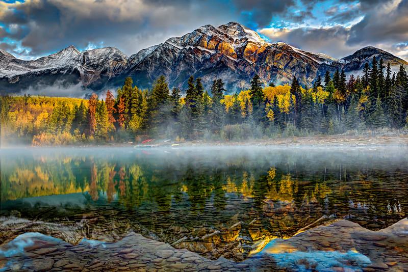 Pryamid Mountain Reflected in Patricia Lake, Jasper, Alberta
