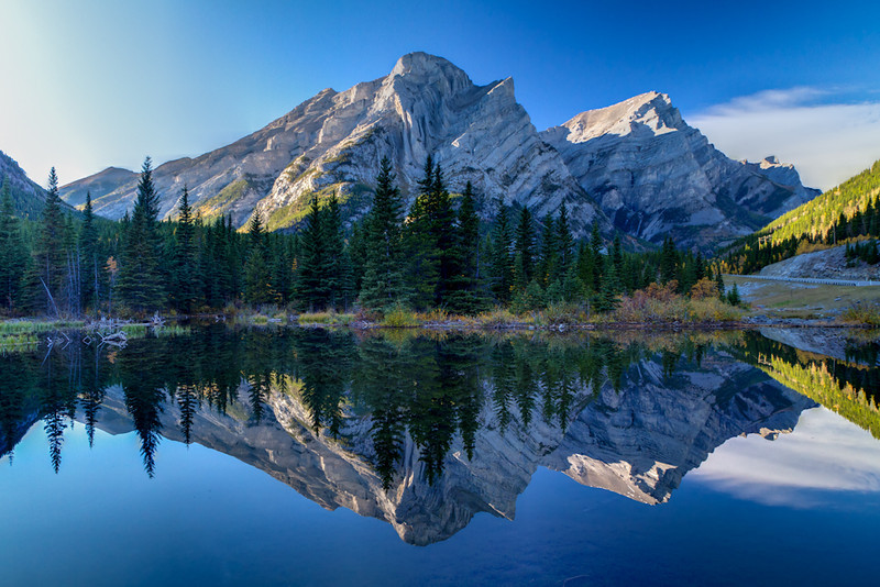 Mt. Kidd Reflection - HDR Image - Canadian Rockies - Jay Brooks - September 2010