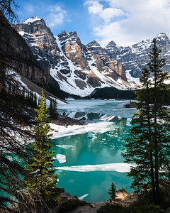 Ice Melt at Moraine Lake
