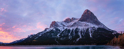 Sunrise over Banff, AB - Ha Ling Peak and Mt. Lawrence Grassi